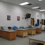 Second Treatment Area in Bobby Barton Athletic Training Room