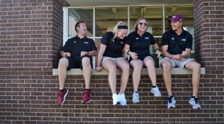 EKU Athletic Training Students Relaxing For a Moment
