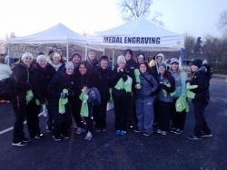 Dr. Tracy Spigelman, ATC Clinical Coordinator for EKU Athletic Training Program &  17 Athletic Training Students Provide Coverage for the 2015 Blugrass Half-Marathon