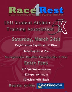 Athletic Training Students to Hold Race4Rest 5K To Benefit CFIDS & Club