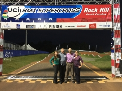 EKU Athletic Training Faculty and Students on the BMX Track