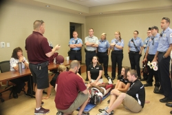EKU AT Program Faculty, Sports Medicine Staff, Students and Madison County EMS Review and Jointly Train on the NATA's Updated  14 Recommendations for the Appropriate Care of the Spine Injured Athlete