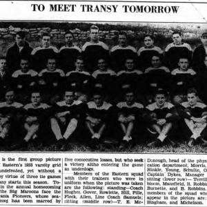 "First mention of a ""trainer"" at EKU in a 1933 Eastern Progress"