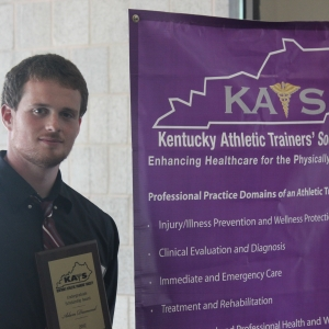 EKU Athletic Training Student Adam Diamond Receives Award from KATS