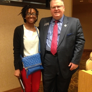 MS in AT Student Jamisha Banks Meeting NATA President Scott Sailor